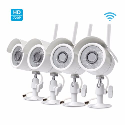 Zmodo 4 Pack HD Wireless IP Outdoor IR Video Surveillance Security Camera System <br/> Back To School Sale ! Extra $20 off $200+