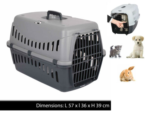 LARGE PET CARRIER CARRY BASKET FOR PUPPY DOG CAT KITTEN RABBIT TRAVEL CAGE CRATE <br/> UK SELLER PREMIUM QUALITY LOWEST PRICE FREE DELIVERY