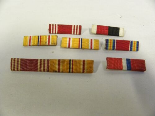 "Lot Of ""7"" Vintage US Army Military Ribbon Bars From WWII Veteran (A10)Army - 66529"