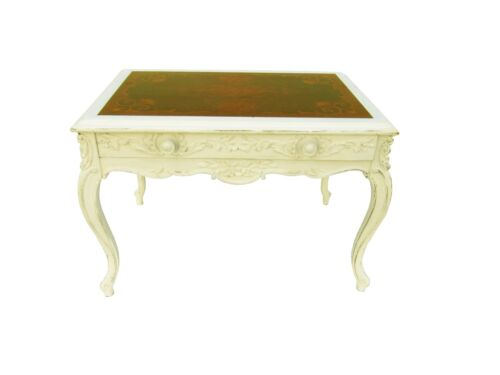 French Carved Marquetry Shabby Accent Table Paris Apartment Cottage Table<br/>1900-1950 - 63588