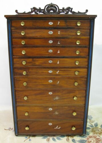 &quot;Cherokee Phoenix&quot; Newspaper Flat File/Type Cabinet; 10 Drawers; 19th Century<br/>1900-1950 - 63564