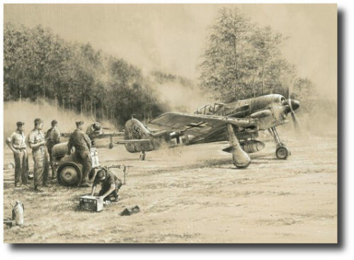 Breaking Cover by Robert Taylor - Fw190 - WWII - Military Aviation Art - Decor