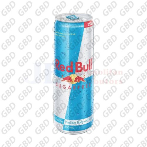 RED BULL SUGAR FREE CANS 355ML (Box of 24 Cans)