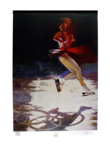 """""""Figure Skating"""" Bart Forbes Limited Edition Lithograph 1994 Olympics"""