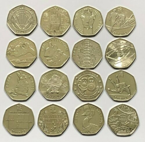 50p COINS FIFTY PENCE KEW GARDENS SNOWMAN OLYMPICS BEATRIX POTTER ISAAC NEWTON <br/> 🎁🎁SPEND &pound;7 &amp; GET A FREE 2018 PEOPLE ACT 50P COIN 🎁🎁