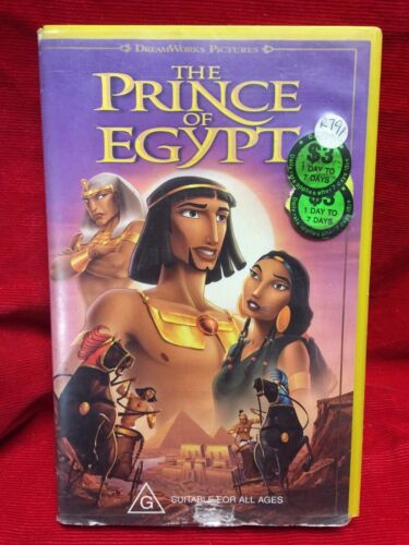 The Prince Of Egypt VHS Video Tape Dreamworks Pictures