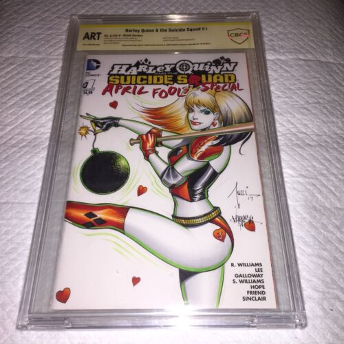 HARLY QUINN #1 BLANK Original Art Connection Cover CBCS 9.8 SS TUCCI & VARESE