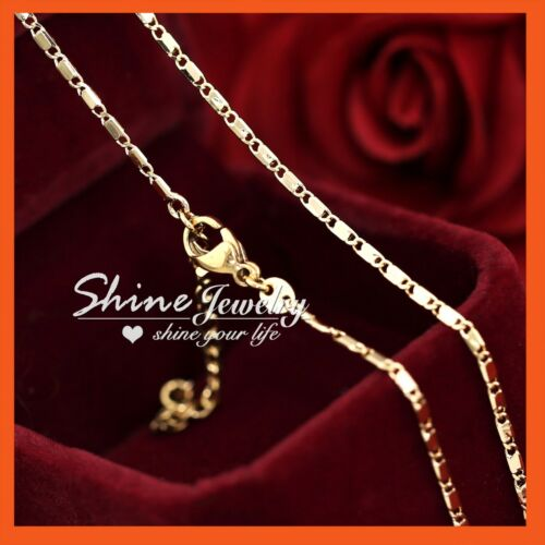 18K ROSE GOLD GF N93 FIGARO CHAIN RING LINK MENS LADY SOLID GIFT NECKLACE 45CM