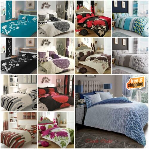 Duvet Cover with Pillow Case Quilt Cover Bedding Set Single Double King All Size <br/> 60 Designs ~ Matching Curtains ~ Over 49,500 SOLD