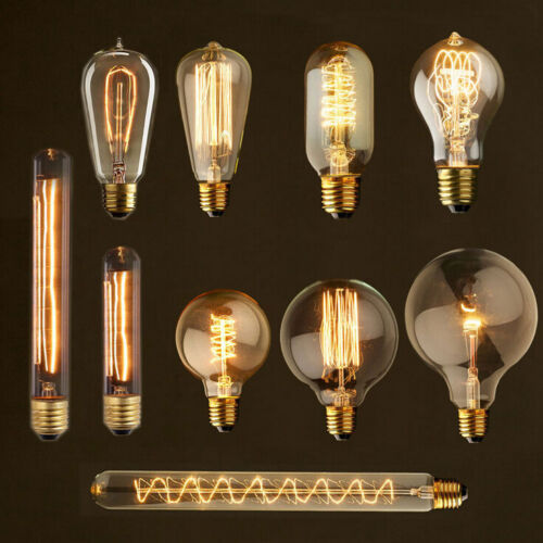 Vintage Squirrel Cage Antique Style Bulbs Edison Industrial Filament Light Bulb