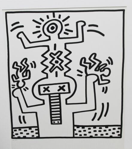 Keith Haring LITHORAPH mint cond from lucio AMELIO  suite ed of 300 rare investm