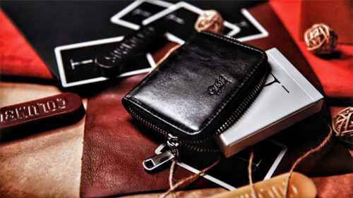 Zipper Playing Card Case (Artificial Leather) by TCC from Murphy's Magic