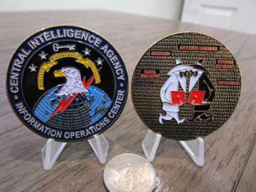 CIA Information Operations Center IOC Cyber Security Spy vs Spy Challenge CoinChallenge Coins - 74710