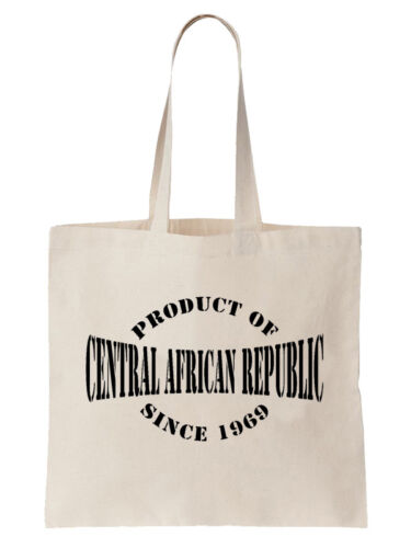 Product Of Central African Republic Since Birthday Tote Bag Gift Year Shopper