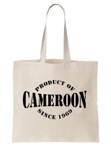 Product Of Cameroon Since Birthday Tote Bag Cameroonian Gift Year Shopper