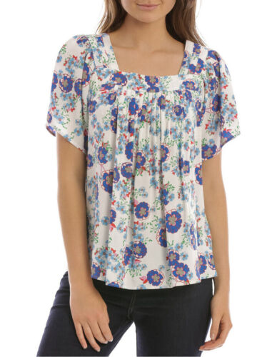 NEW Hi There From Karen Walker Light Fresco Square Neck Pleat Top Assorted