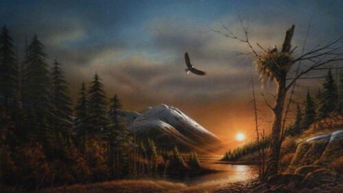 Terry Redlin Flying Free Eagle Art Print with Certificate 24 x 14
