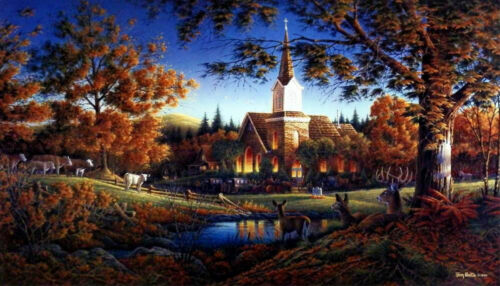 Terry Redlin Sunday Morning Art Print with Certificate 24 x 14