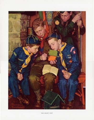 Norman Rockwell BSA Boy Scout Print THE RIGHT WAY 1955