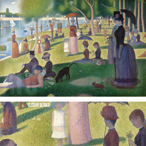 """43""""x29"""" SUNDAY AFTERNOON by GEORGES SEURAT Repro CANVAS"""