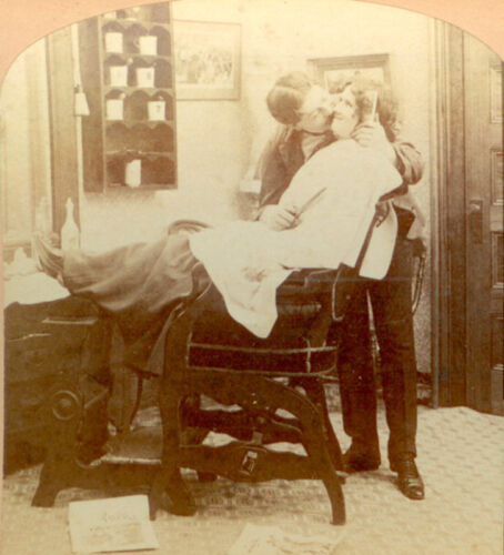 STEREOVIEW SERIES-GETTING HER/HIS HAIR BANGED-SET/2