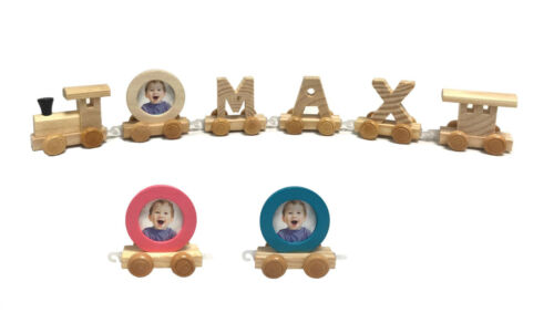 Wooden Wood Train Letters Alphabet Personalised Name Train Set Christening Gifts