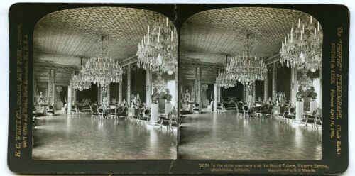 Royal Palace Stockholm Sweden Victoria Saloon State Apartment Chandeliers
