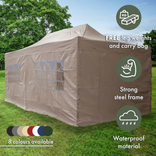 Airwave 3x6m Garden Pop Up Gazebo with Carry Bag - Fully Waterproof Marquee <br/> Bestseller | Free Next Day Delivery | Best eBay Price