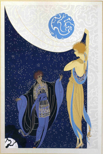 Nocturne  by Erte  Giclee Canvas Print Repro