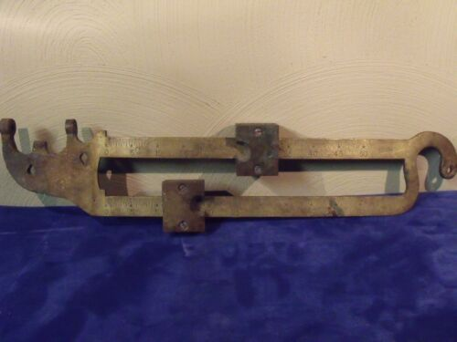 "VINTAGE BALANCE BEAM  BRASS SCALE ARM 600 LBS 18 1/4"" LONG & HEAVY FREE SHIPPING"