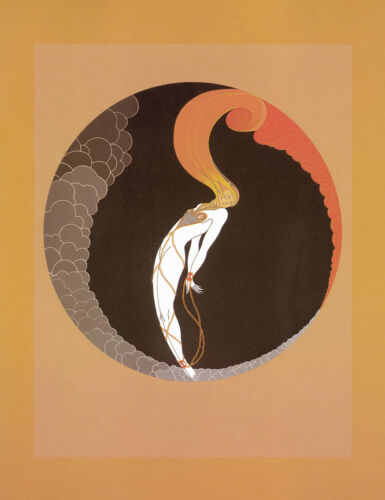 Emotions, Love  by Erte  Paper Print Repro