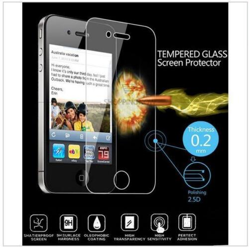 Vitre protection VERRE TREMPÉ pr iphone 2 4 4S C 5S 6S 6 7 plus x tempered glass