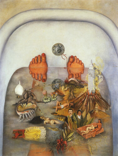 "What the Water Gave Me  by Frida Kahlo  14"" Canvas Print Repro"