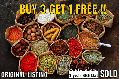 100g Whole and Ground Indian Herbs &amp; Spices, curry masala *60 variety* <br/> BUY 3 GET 1 FREE !! Please add 4 items in to Basket !!