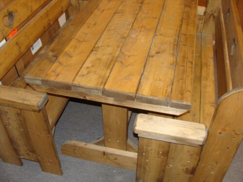Woodshack Brand Wooden Bench & Table 4 Ft Set New