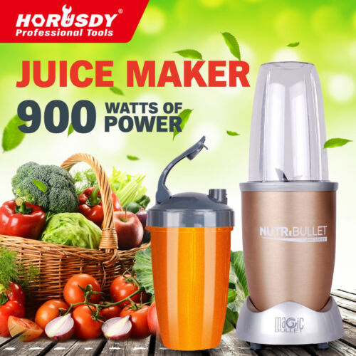 NutriBullet 15Pcs Juicer Mixer Extractor Fruit Vegetable Blender 900W Gold New <br/> Sale $80 with code COZZIE At Purchase. 5 Year Warranty!