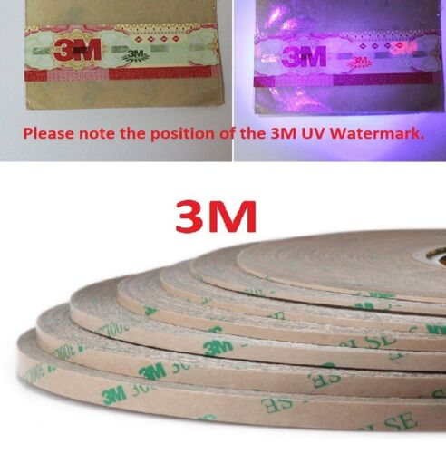 3M 300LSE 9495LE Double Sided Tape Transparent Clear Phone Screen LCD Repair 55M <br/> 3M UV WATERMARK GUARANTEES THE TAPE IS 100% GENUINE!!!