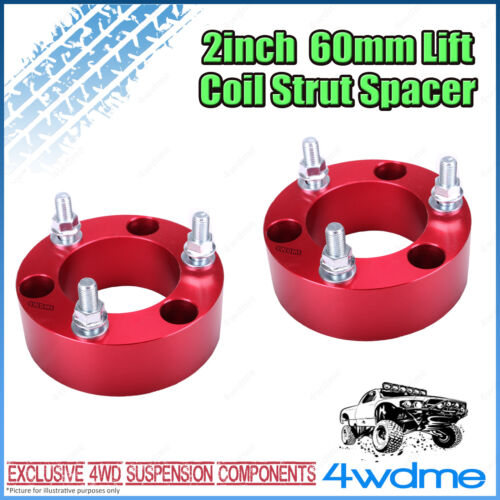 """Pair Toyota Landcruiser 200 Series 4WD Front Coil Strut Spacer 2"""" 60mm Lift Kit"""