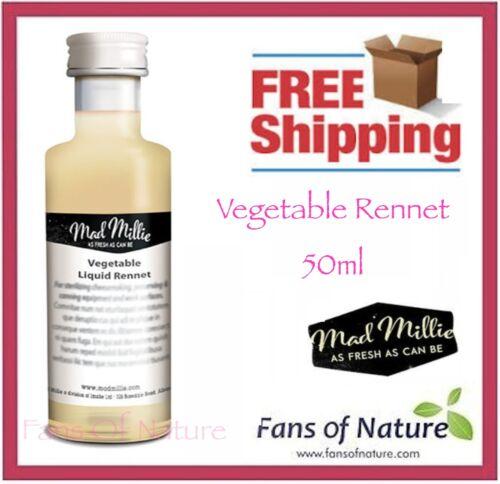Vegetarian Rennet by Mad Millie 50ml - for Cheese Making - By AusPost