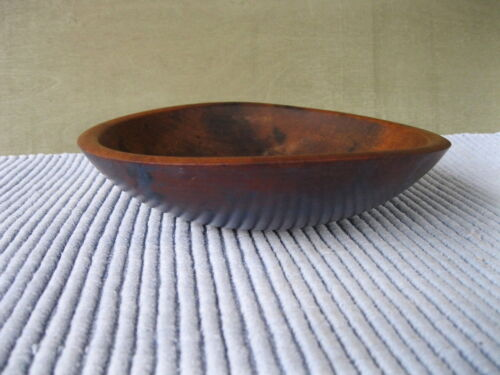 Vintage Bowl Primitive Country Blue Paint 9&quot; Round Wood, Butter Fruit<br/>Primitives - 1217