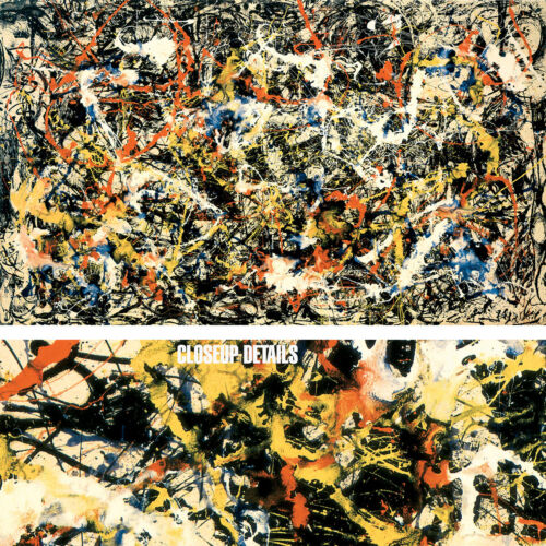 "66W""x39H"" CONVERGENCE by JACKSON POLLOCK, DRIP PAINTING - CHOICES of CANVAS"
