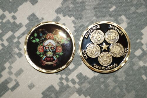 Challenge Coin United States Military Operation Enduring Freedom OEF SkullChallenge Coins - 74710