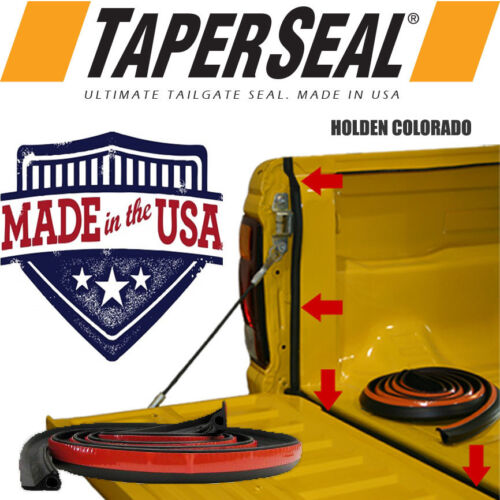HOLDEN COLORADO RUBBER UTE DUST TAIL GATE TAILGATE SEAL KIT <br/> Taper Seal&reg; - World #1 Tailgate Seal Brand, MADE IN USA