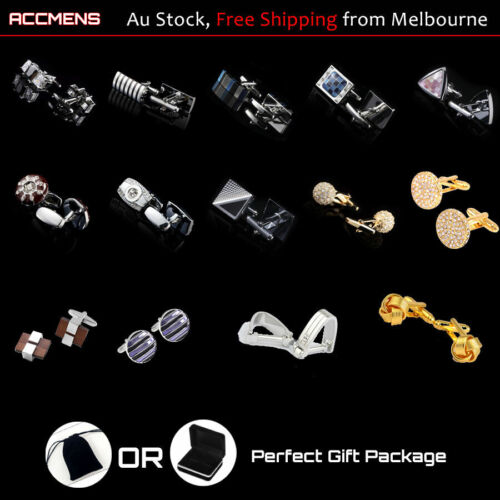 Mens Cufflinks Metal Unique Classic Wedding Party Vintage Fun Farthers Day Gift