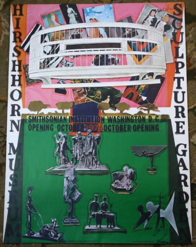 Larry Rivers 1974 Hirshhorn Smithsonian Museum Exhibition Opening Litho Poster