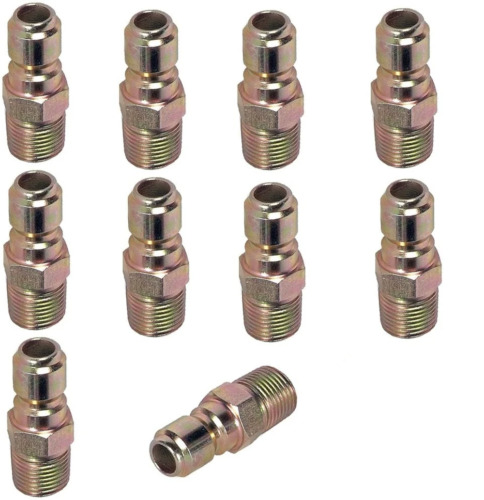 Pressure Washer Hose Quick Coupler Plug 3/8&quot; MPT - 10 Pack <br/> Authorized Legacy Dealer | Free Shipping