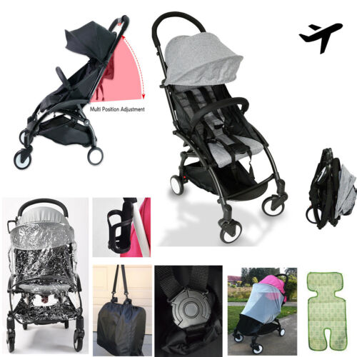 New 2019 Compact Lightweight Baby Stroller Pram Easy Fold Travel Carry on Plane <br/> 5 Point Seat belt *Rain Cover *Mosquito Net *Belly Bar