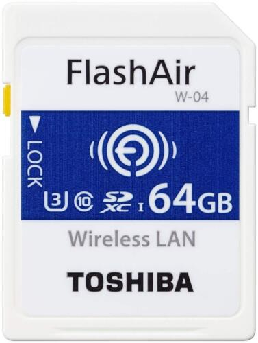 Toshiba 64GB Wi-Fi Wireless LAN FlashAir W-04 SDXC SD 90MB/s Camera Memory Card <br/> USA SELLER. Latest W-04 MODEL.