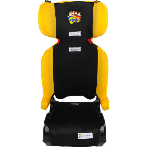 The Wiggles InfaSecure  Traveller II Car Folding Booster Seat YELLOW EMMA 4-8YRS