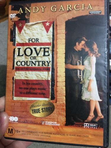 For Love Or Country region 4 DVD (Andy Garcia true drama movie) RARE